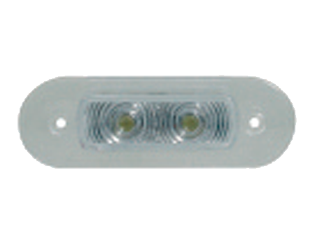 Luz led cortesia 82x28 mm.